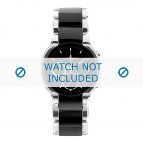 Jacques Lemans horlogeband 1-1580A Keramiek Zilver