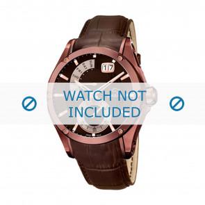 Jaguar horlogeband J680-A Leder Bruin 22mm
