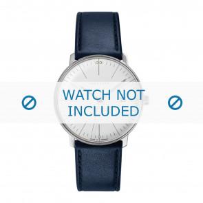 Junghans horlogeband 041/4464.00 Leder Blauw 20mm + standaard stiksel