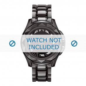 Karl Lagerfeld horlogeband KL1001 Staal Zwart 10mm