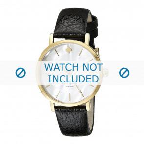 Pasek do zegarka Kate Spade New York 1YRU0010 Skórzany Czarny 16mm