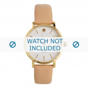 Pasek do zegarka Kate Spade New York 1YRU0073 Skórzany Różowy 16mm