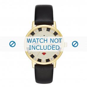 Kate Spade New York horlogeband KSW1052 / METRO Leder Zwart