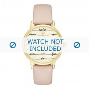 Kate Spade New York horlogeband KSW1059 / METRO Leder Roze