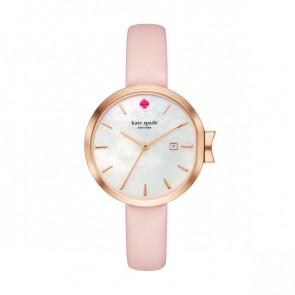 Kate Spade New York horlogeband KSW1325 Leder Roze
