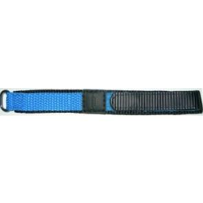 Pasek do zegarka Uniwersalny KLITTENBAND 412R Licht Blauw Rzep Niebieski 14mm
