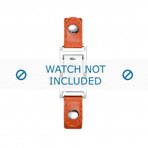 Lacoste horlogeband 2000385 / LC-05-3-14-0009 Leder Oranje 12mm + wit stiksel