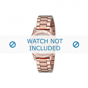 Lacoste horlogeband 2000851 / LC-75-3-34-2537 Staal Rosé 16mm