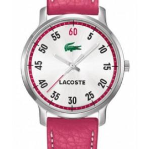 Pasek do zegarka Lacoste 2000567 / LC-41-3-14-2199 Skórzany Różowy 20mm