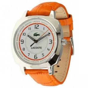 Pasek do zegarka Lacoste 2000600 / LC-47-3-14-2233 Skórzany Pomarańczowy 18mm
