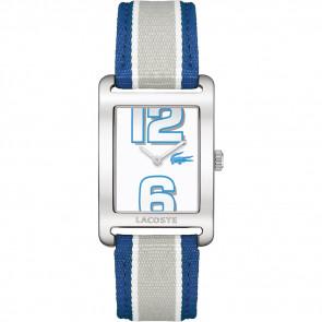 Pasek do zegarka Lacoste 2000693 / LC-51-3-14-2261 Skórzany Niebieski 20mm