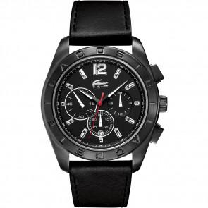 Pasek do zegarka Lacoste 2010609 / LC-53-1-34-2302 Skórzany Czarny 24mm