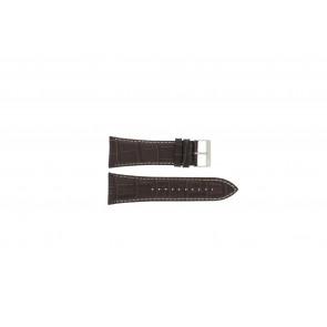Lorus Pasek Do Zegarka Vd57-X023 Skóra Brązowy 28mm + Biały Szwy