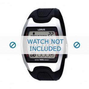 Lorus horlogeband Z009-X002 Rubber Zwart