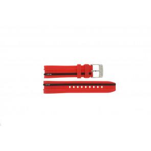 Pasek do zegarka Lotus 15881/2 Gumowy Czerwony 22mm