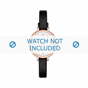 Marc by Marc Jacobs horlogeband MBM1352 Leder Zwart 8mm