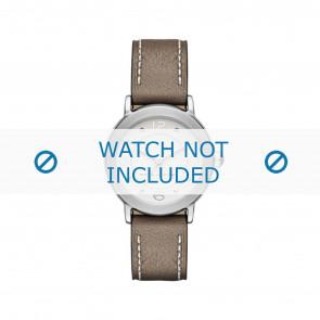 Marc by Marc Jacobs horlogeband MJ1472 Leder Taupe 16mm + wit stiksel