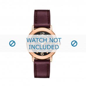 Marc by Marc Jacobs horlogeband MJ1474 Leder Bordeaux 14mm + rood stiksel