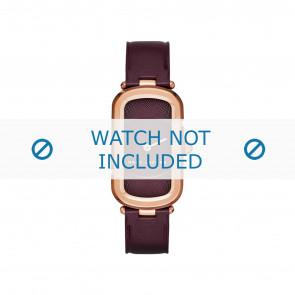 Marc by Marc Jacobs horlogeband MJ1483 Leder Bordeaux 14mm + standaard stiksel