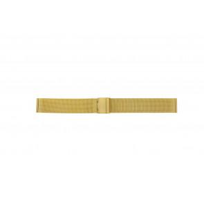 Pasek do zegarka Uniwersalny 18.1.5-ST-DB Milanese Pozłacany 18mm
