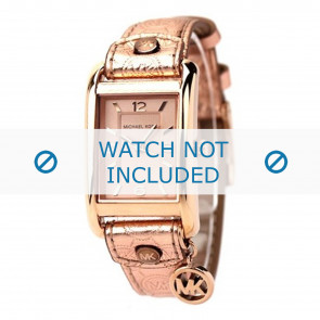 Michael Kors horlogeband MK2248 Leder Goud 18mm + standaard stiksel
