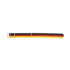 Pasek Do Zegarka 22Mm Czarny / Czerwony / Zółty Ex Wh37