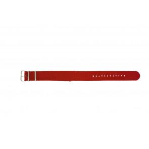 Pasek Do Zegarka 22Mm Czerwony Ex Wh30