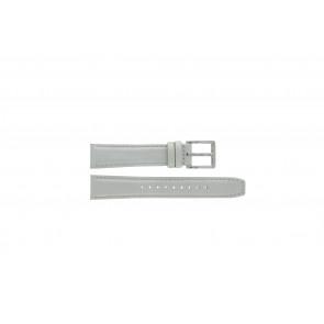 Pasek do zegarka DKNY NY8585 Skórzany Szary 18mm