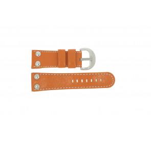 Pasek do zegarka Uniwersalny OVR-ORANJE-28MM Skórzany Pomarańczowy 28mm