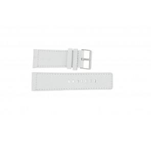 Pasek do zegarka Uniwersalny OOZOO-WIT-28MM Skórzany Biały 28mm