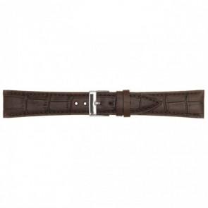 Skóra Pasek Do Zegarka Ciemnybrązowy 18mm Pvk-497