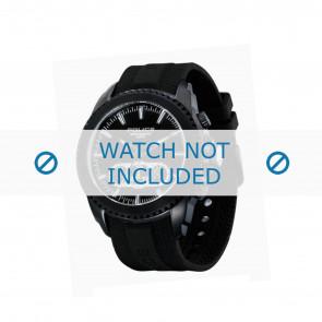 Police horlogeband P-12076J/JSB/02 Rubber Zwart