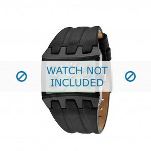 Police horlogeband 13420JS-05B Leder Zwart