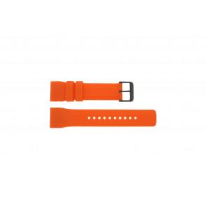 Pulsar Pasek Do Zegarka W861-X006 Guma Pomarańczowy 24mm