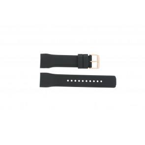 Pasek do zegarka Pulsar W861-X006 / PQ2046X1 / PP255X Gumowy Czarny 24mm