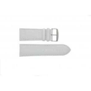 Prawdziwy Skóra Pasek Do Zegarka Biały 32mm