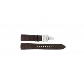 Pasek do zegarka Seiko 7T04-0AA0 / SPC059P1 / 4A071JL Skórzany Brązowy 21mm