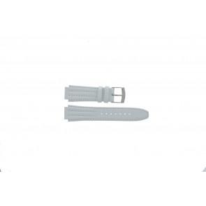 Pasek do zegarka Seiko 7T92-0HD0 / SND875P1 / 4LE7JB Skórzany Biały 16mm