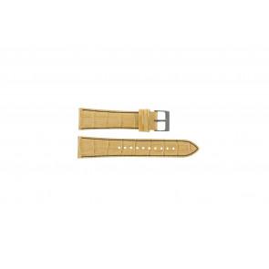 Pasek do zegarka Seiko 7T92-0NK0 / SNDD69P1 Skórzany Jasnobrązowy 22mm