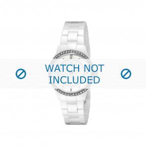 Skagen horlogeband 347SSXWC Keramiek Wit 16mm
