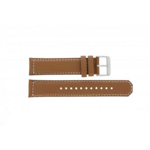Seiko horlogeband SRPA75K1 / 4R35 01N0 / M0FP71BN0 Leder Cognac 21mm + wit stiksel
