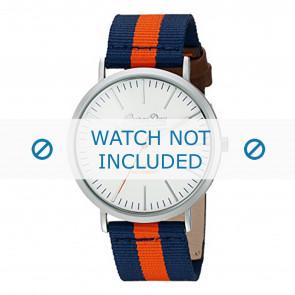Superdry horlogeband SYG183UO Nylon / perlon Blauw