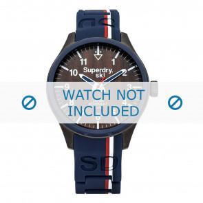 Superdry horlogeband SYG185U Silicoon Blauw