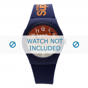 Superdry horlogeband SYG198UO Kunststof / Plastic Blauw