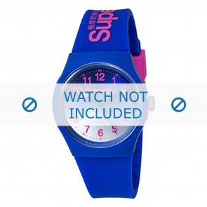 Superdry horlogeband SYG198UU Kunststof / Plastic Blauw