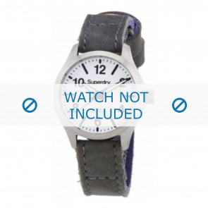 Pasek do zegarka Superdry SYL113E Skórzany Szary 16mm