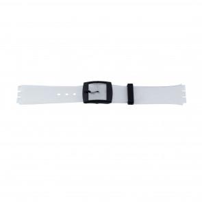 Pasek do zegarka Swatch (alt.) 51.00 Plastikowy Przezroczysty 17mm