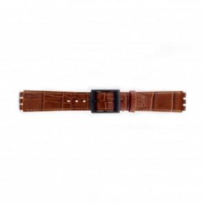 Pasek do zegarka Swatch (alt.) SC16.03 Skórzany Brązowy 16mm