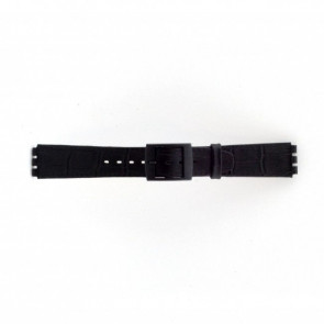 Pasek do zegarka Swatch SC16.01 Skórzany Czarny 16mm