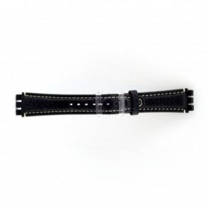 Pasek do zegarka Swatch (alt.) ES.IRON-3.05 Skórzany Niebieski 19mm